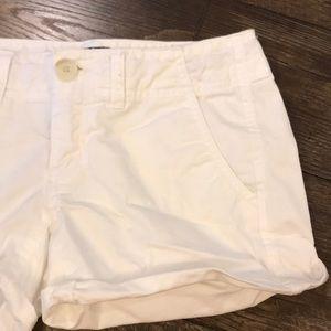 AEO Chino White Shorts